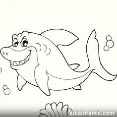 Dibujo de un tiburón para colorear