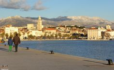split in January, Croatia