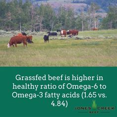 Yet another reason why grassfed beef is better for your health. Today's fact is taken from a 2009 study by the USDA and researchers at Clemson University.