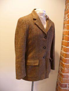 Vintage Talbots Herringbone Tweed Jacket Made in Italy Size 6 by EurotrashItaly…