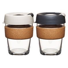 KeepCup Brew Glass Coffee Cup - Special Edition Cork 12oz (340ml) from Reusables Etc