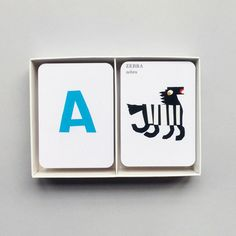 ANTEATERS TO ZEBRAS Flash cards / Card game by Alan Fletcher | MRP SHOP