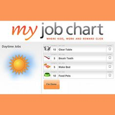 Free online Job Chart that teaches kids how to Save, Share, and Spend.