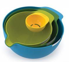#Schüsseln / Siebe #Joseph Joseph #JJ40015   Joseph Nest Mix  Funktional Blau Grün Gelb Edelstahl     Hier klicken, um weiterzulesen.