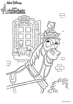 from disney coloring pages frou frou - Aristocats Duchess Coloring Pages