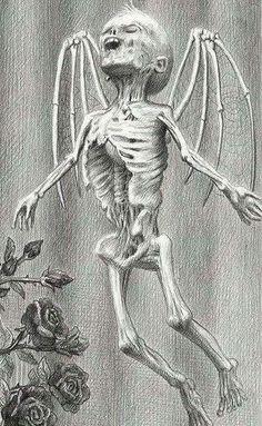 """""""Santa Muerte"""" by Laurie Lipton ☠️"""