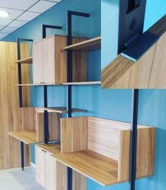 Stili - habithame - #alluminiawood Shelves, Home Decor, Cabinets, Doors, Interiors, Shelving, Decoration Home, Room Decor, Shelving Units
