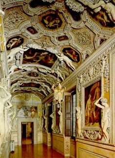 Galleria degli Stucchi, Palazzo Spada, Consiglio di Stato, Rome, Italy