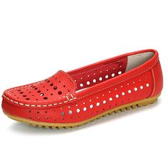 Hollow Out Comfortable Leather Loafers Soft Sole Casual Shoes is cheap and comfortable. There are other cheap women flats and loafers online. Best Casual Shoes, Casual Loafers, Leather Loafers, Shoes Online, Slip On Shoes, Flat Shoes, Buy Shoes, Women's Shoes, Shoes