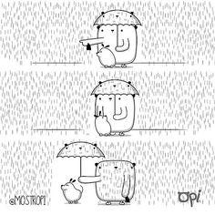 Cuando debo sacar a #pipo y lloviendo #opi #cute #kawaii #… | Flickr