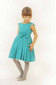 Aquamarine Girl Dress by Demetriougirls on Etsy Little Kid Fashion, Baby Girl Fashion, Cute Fashion, Kids Fashion, Girly Outfits, Cute Outfits, Little Girl Dresses, Girls Dresses, Toddler Outfits