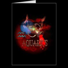 Creepy Aquarius zodiac astrology by Valxart.com Cards by ValxArt