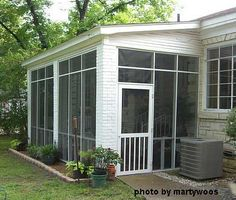 screened+porches | ... screened porch; note the brick columns, shed roof, and classic screen