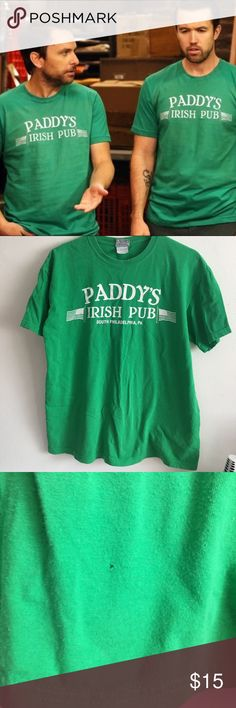 It's Always Sunny Paddys Irish Pub Logo Shirt From the awesome TV show: It's Always Sunny in Philadelphia ! Size medium, unisex. Minimal piling and signs of wear. Tops