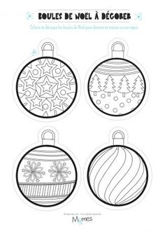 ^ This is perfect for this time of the year! After it is drawn, then the fun of coloring begins. Coloriage de noel à imprimer Christmas Crafts For Kids, Christmas Activities, Xmas Crafts, Christmas Printables, Christmas Balls, Christmas Colors, Christmas Diy, Christmas Ornaments, Christmas Drawing