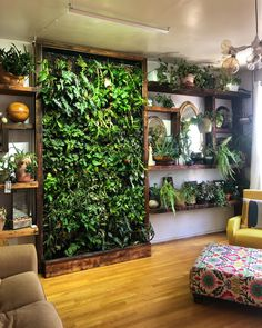 Vertical Gardens Are the Perfect Small Space Solution for Plant Lovers is part of Vertical garden wall - With a bare wall or fence you can easily grow plants, herbs, and vegetables Jardim Vertical Diy, Design Patio, Garden Design, Garden Wall Designs, Vertical Garden Wall, Vertical Planter, Room With Plants, Plant Rooms, Plants On Walls