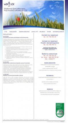 Wykonanie strony internetowej dla Wojskowej Specjalistycznej Przychodni Lekarskiej