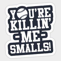 Baseball Pictures, Baseball Stuff, Baseball Mom, Softball, Sandlot Quotes, The Sandlot, Your Killin Me Smalls, Silhouette Design, Silhouette Cameo