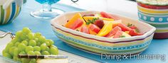Simply Summer - bright and cheery stoneware pattern!!   Yes it comes in a beanpot!!  :)