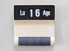 Present - Scroll Calendar Perpetual Calendar, Flip Clock, Cool Pictures, Cool Stuff, Wall, Inspiration, School, Product Design, Interior