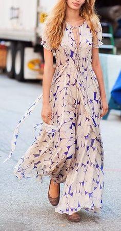 Cute Summer Flowy Maxi Dress