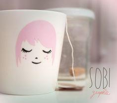 ceramic mug hand painted