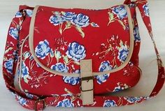 *REDUCED* Tulchan shoulder bag - Red with blue flower pattern in Clothes, Shoes & Accessories, Women's Handbags What's Trending, Flower Patterns, Blue Flowers, Diaper Bag, Women's Handbags, Shoulder Bag, Red, Fashion Trends, Clothes