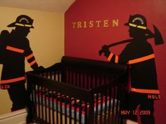 Firefighter nursery decor   Tristen s Firefighter Nursery   Nursery Designs    Decorating Ideas  Firefighter Kids  Firefighter Nursery  Firefighter Decor  . Firefighter Room Decorations. Home Design Ideas