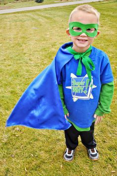My toddler loves Super Why! This would be a fun diy Halloween costume for him!