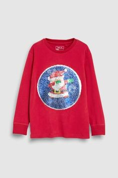 Boys Next Red Sequin Change Christmas T-Shirt - Red Latest Fashion For Women, Mens Fashion, T Shirt, Graphic Sweatshirt, Uk Online, Boy Outfits, Sequins, Unisex, Sweatshirts