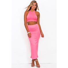 High Waisted Slit Maxi Skirt This stretchy scuba maxiskirt is equal parts glamorous, chic and modern. High waist fit makes the super flattering and the dramatics slit in the back brings the sexy out full force! Unlined. Stretchy. 95% polyester, 5% spandex. Made in the USA. Skirts Maxi