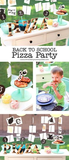 Let your kids be creative with this Back to School Pizza Party!