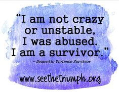 This applies to any person who has gone through sexual abuse, physical/verbal abuse or domestic violence. Survivor Quotes, Abuse Survivor, Im A Survivor, Narcissistic Personality Disorder, Narcissistic Sociopath, Narcissistic Mother, Trauma, After Life, Domestic Violence