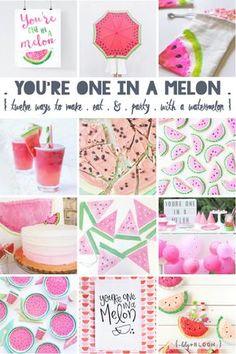 { twelve lovely ideas to make . Watermelon Birthday Parties, Summer Birthday, Baby Birthday, First Birthday Parties, Birthday Party Themes, First Birthdays, Birthday Ideas, Party Mottos, Lily Bloom