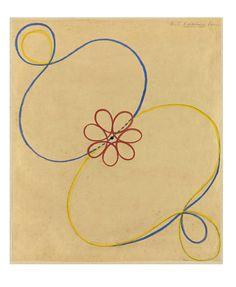 Hilma af Klint:Group IX/UW, No. 38, The Dove, No. 14, 1915, 154 × 128.5 cm, Oil on canvas.