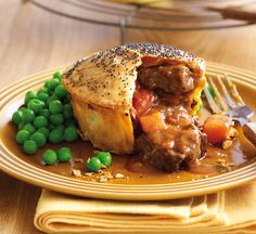 Chunky beef and onion pie