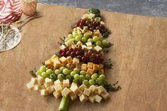 Christmas Tree Cheese Board Recipe - Wow your guests at your next get-together with this easy-to-assemble cheese board!