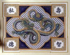 cross stitch dragon - Google Search