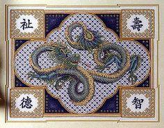 cross stitch dragon - Google Search