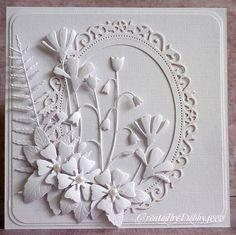 A Scrapjourney: All in White.  Love this monochromatic card :-)