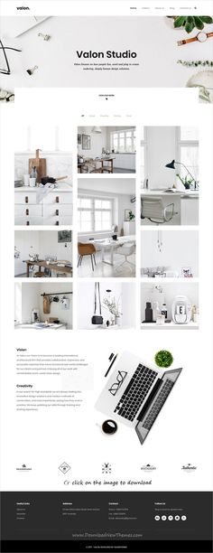 Valon is clean and modern design responsive #HTML template for minimal #portfolio showcase website to download click on image.
