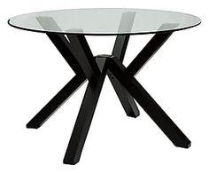 Tavolo in legno e vetro Vilma grafite - d 120 cm