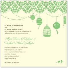 Wedding invite with lanterns