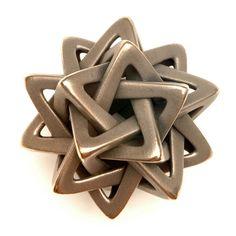 3D printed metal design Five Tetrahedra by Vladimir Bulatov #3dPrintedMetal