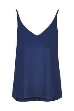 Plunge V-Neck Cami - Topshop California Cool, Long Shorts, Cami Tops, Long Tops, Spring Summer 2015, Capsule Wardrobe, Preppy, Basic Tank Top, Camisole Top