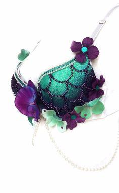 Enchanting Siren Mermaid Rave Bra