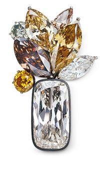 Hemmerle white and brown diamonds
