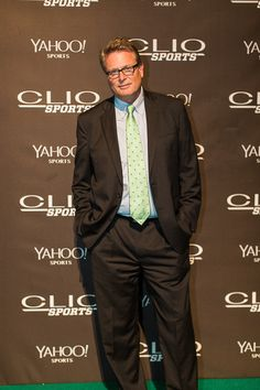 Aaron Taylor, senior vp of marketing for ESPN and a Clio Sports juror, in the Film category, arrives on the red carpet.