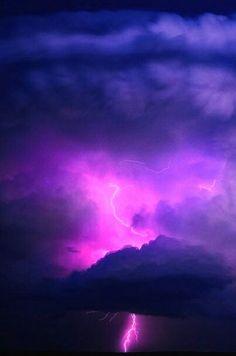 Supercell Pink Lightning Strike