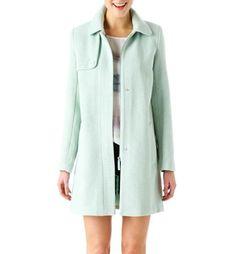 1960s tweed coat almond green - Promod
